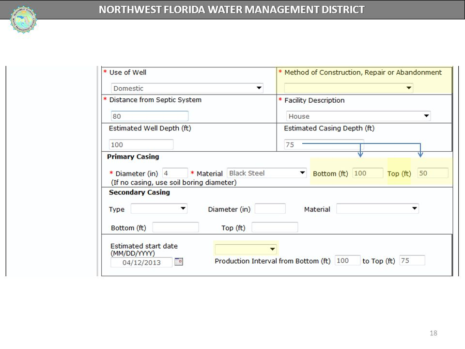 18 NORTHWEST FLORIDA WATER MANAGEMENT DISTRICT