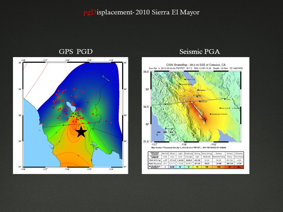 pgDisplacement- 2010 Sierra El MayorpgDisplacement- 2010 Sierra El Mayor GPS PGDSeismic PGA