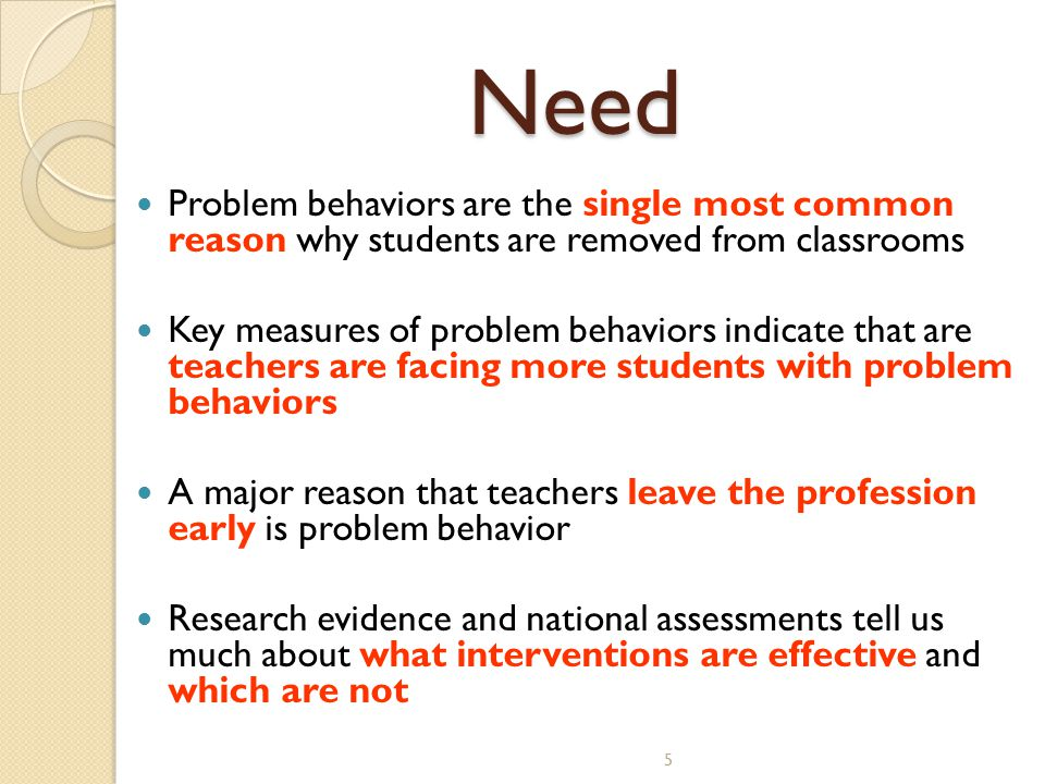 6 Science of behavior has taught us that students….