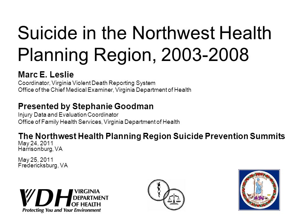 Suicide in the Northwest Health Planning Region, 2003-2008 Marc E.