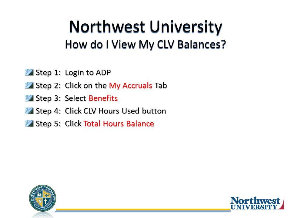 Northwest University How do I View My CLV Balances.