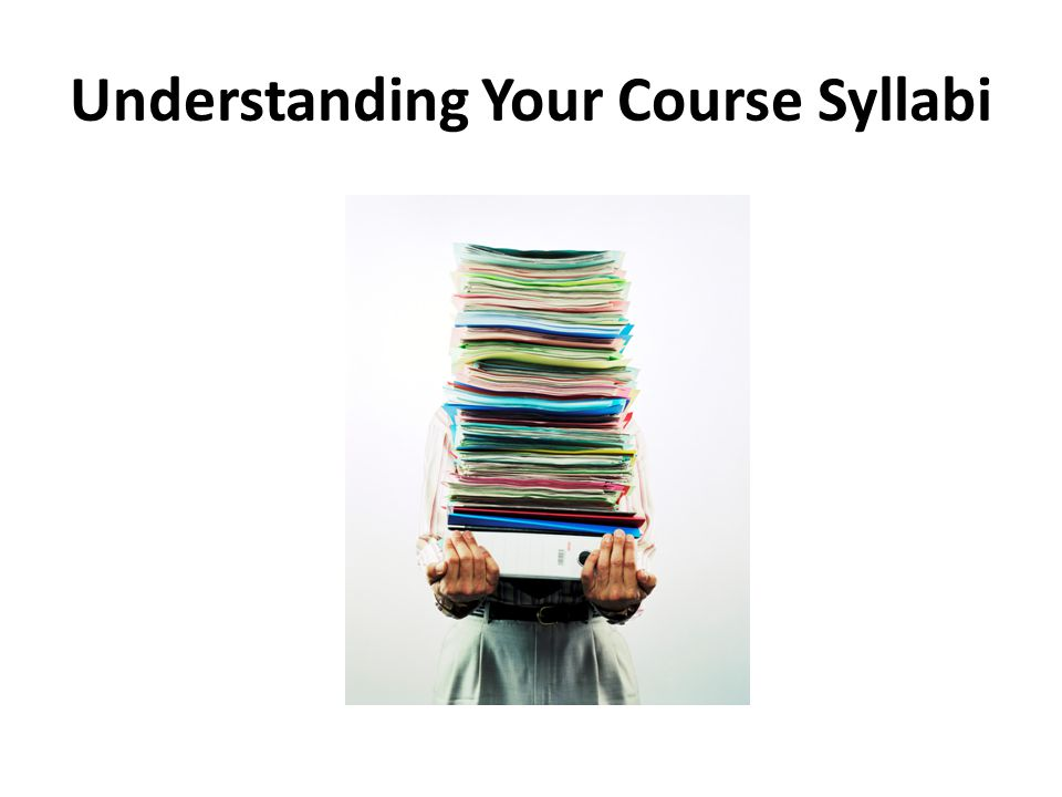 Understanding Your Course Syllabi