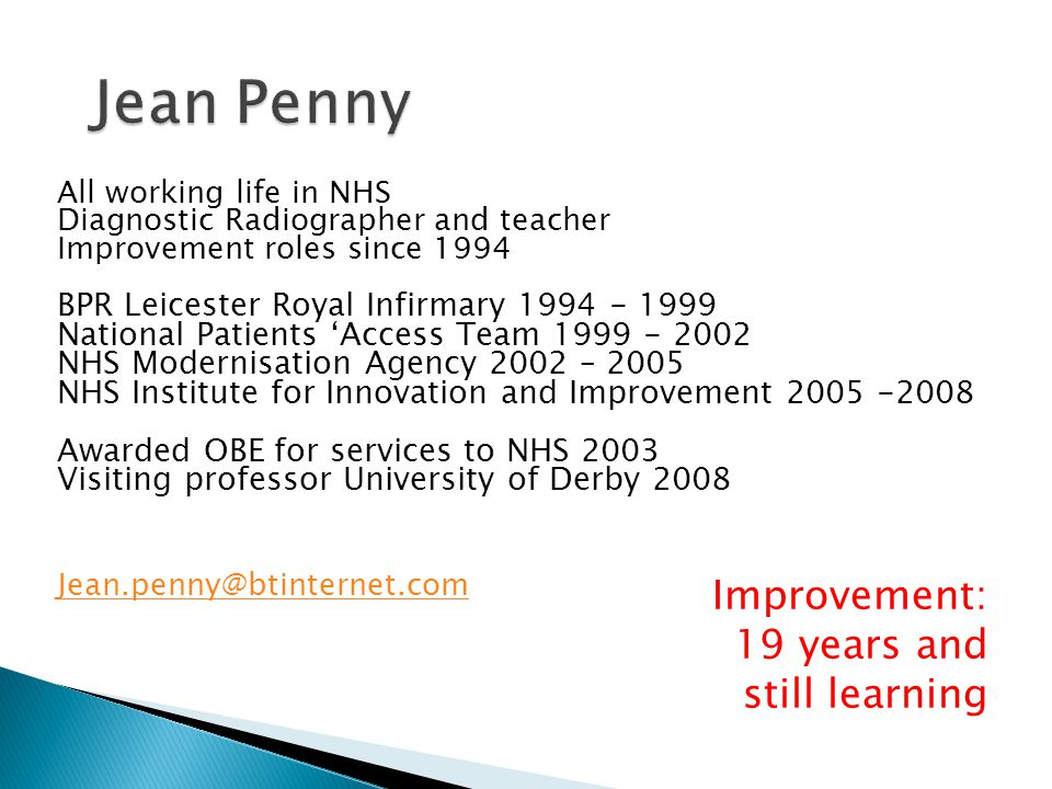 All models are wrong but some are useful  W Deming A promise to learn A commitment to act  D Berwick