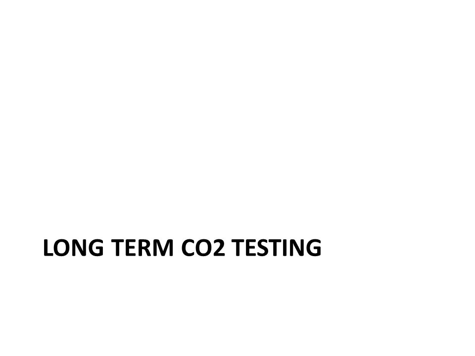 LONG TERM CO2 TESTING
