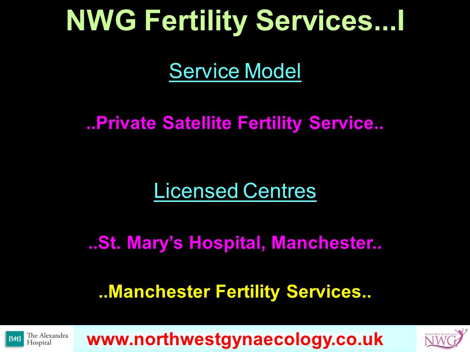NWG Fertility Services...I Service Model..Private Satellite Fertility Service..