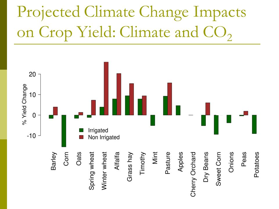 Projected Climate Change Impacts on Crop Yield: Climate and CO 2
