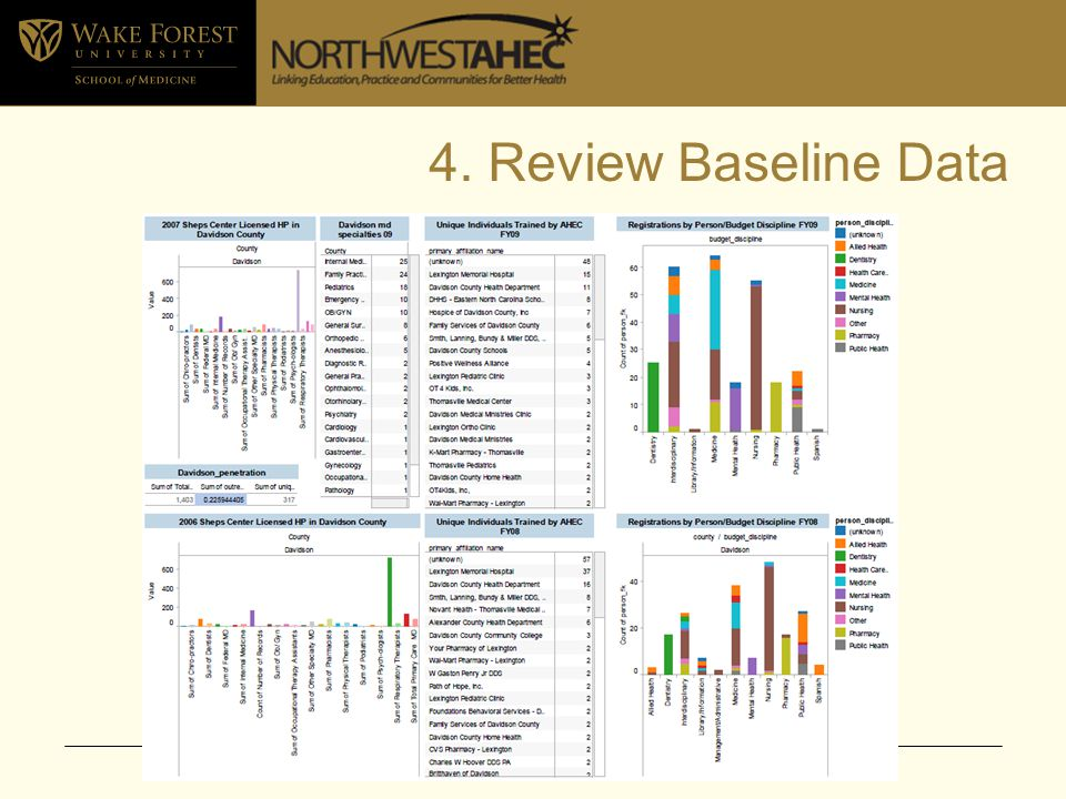 4. Review Baseline Data