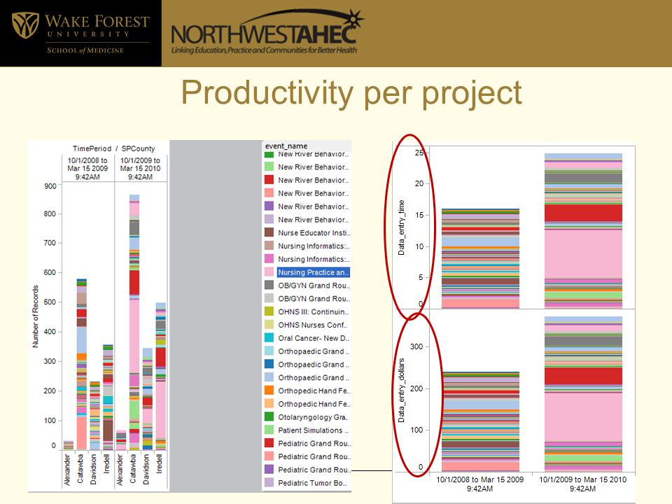 Productivity per project