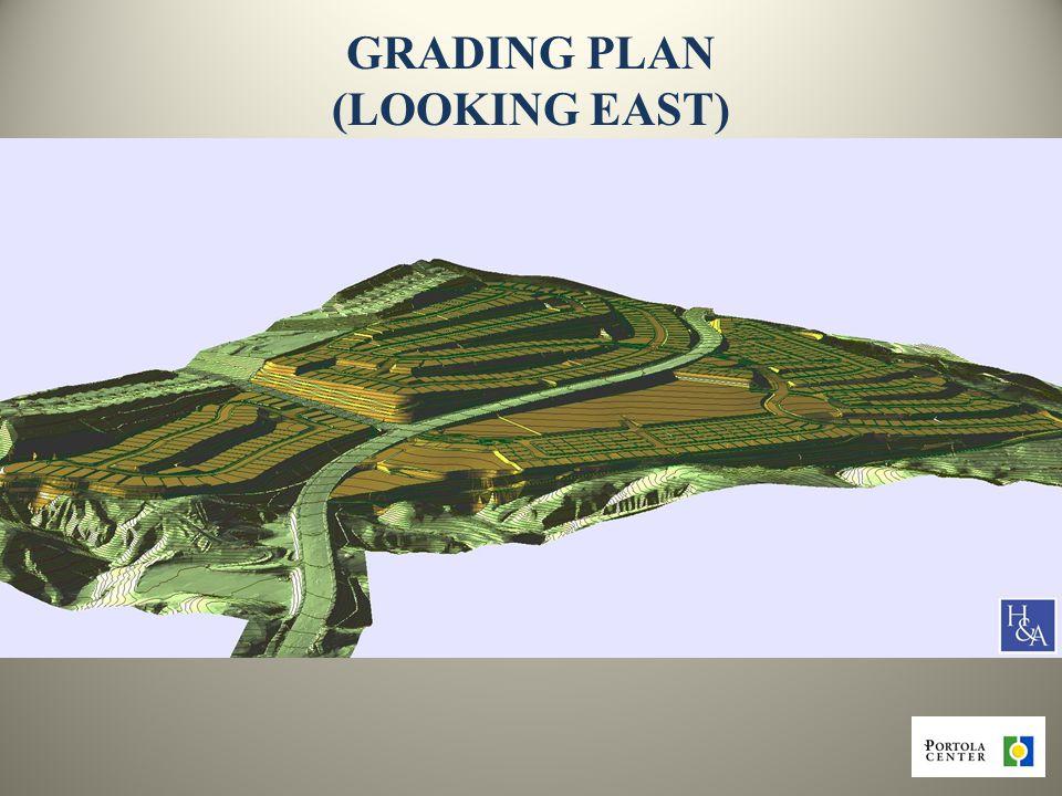 14 GRADING PLAN (LOOKING EAST)