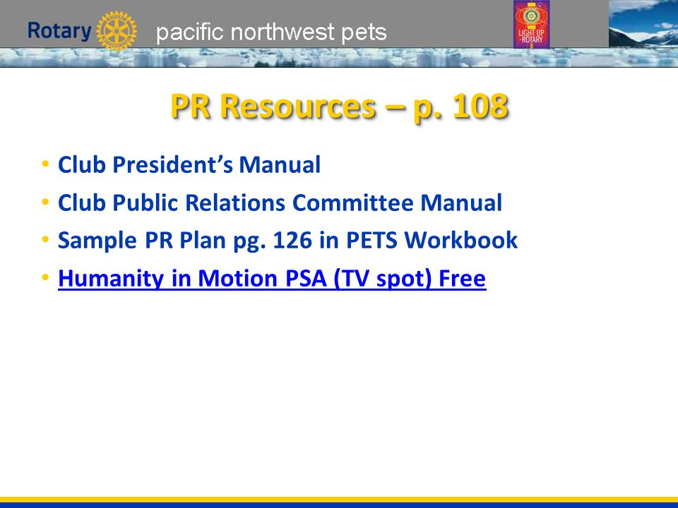 pacific northwest pets 7.PR Calendar What would you put on your PR calendar.