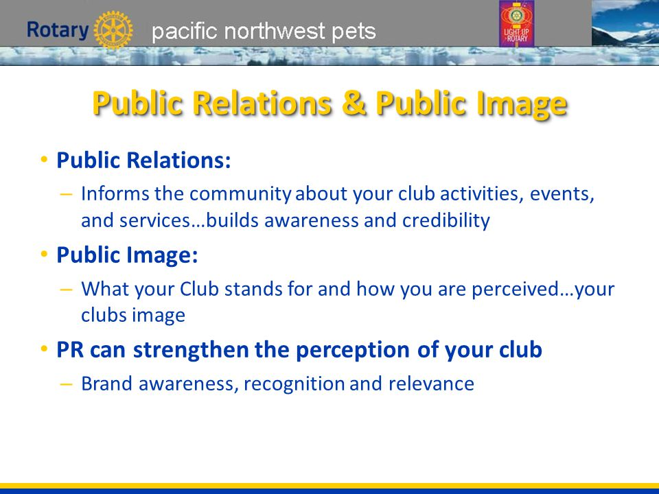 pacific northwest pets Perception of Rotary Is Perception Reality?