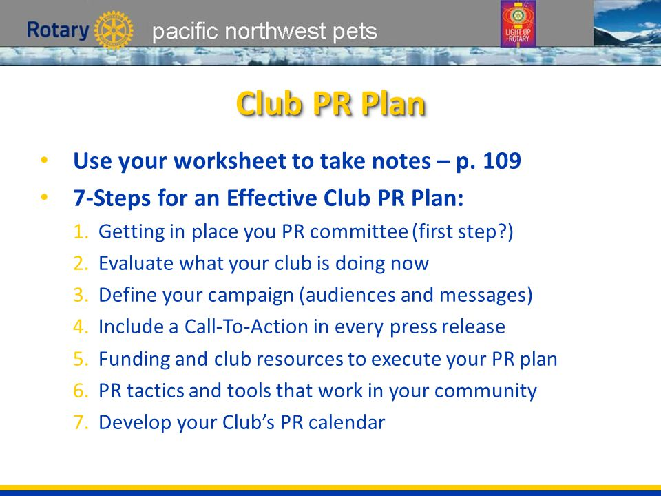 pacific northwest pets Your Rotary Story Take notes on discussion, p.