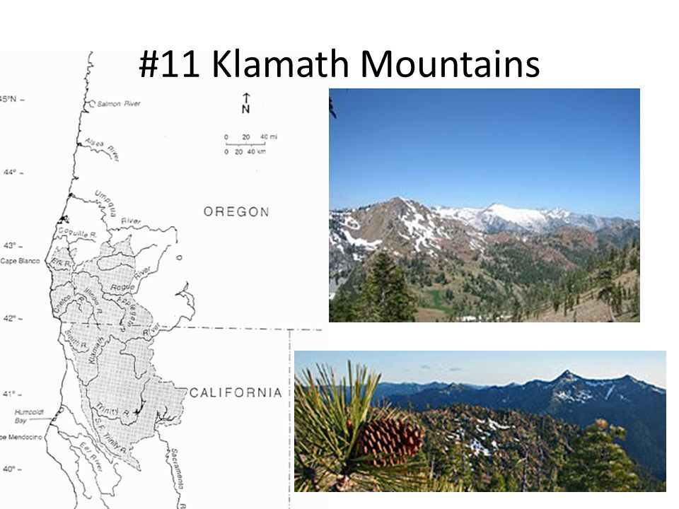 #11 Klamath Mountains