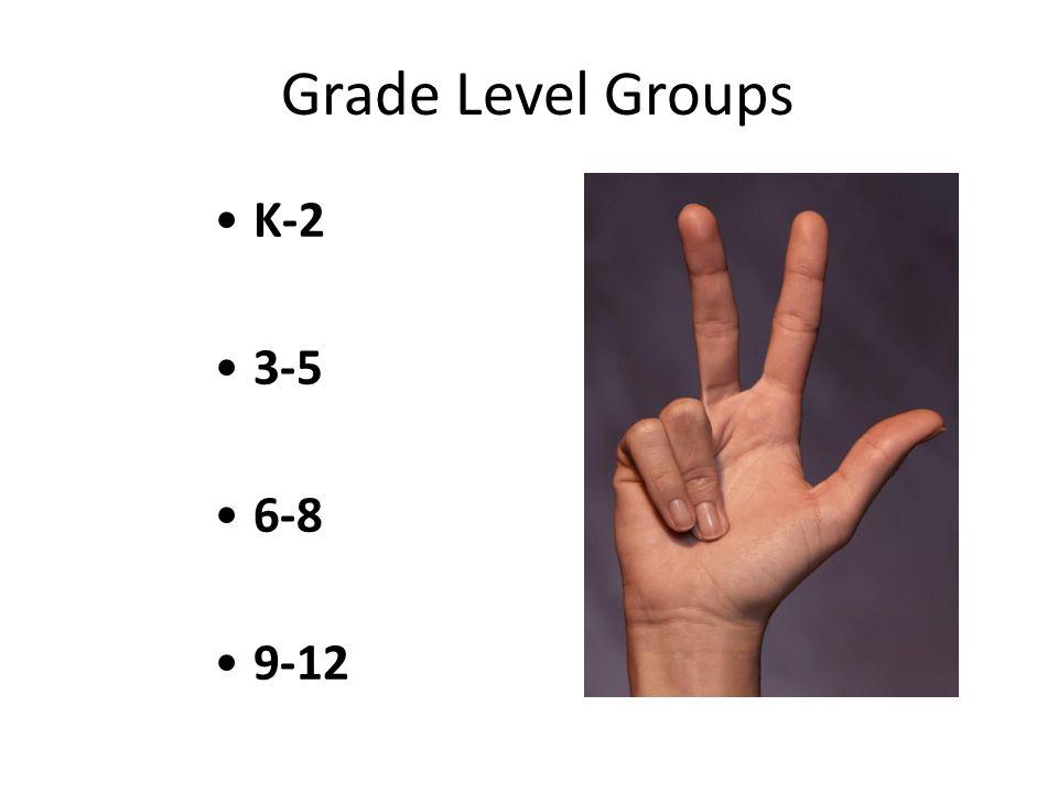 Grade Level Groups K-2 3-5 6-8 9-12
