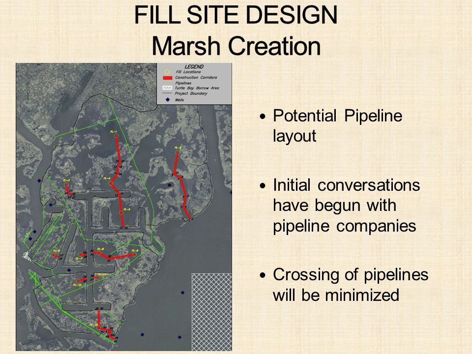 Potential Pipeline layout Initial conversations have begun with pipeline companies Crossing of pipelines will be minimized
