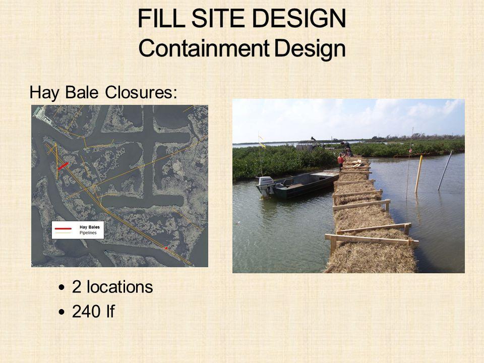 Hay Bale Closures: 2 locations 240 lf
