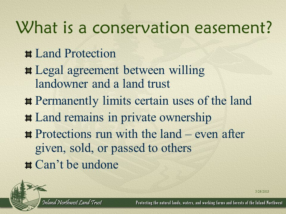 What does the Inland Northwest Land Trust bring to our partners.