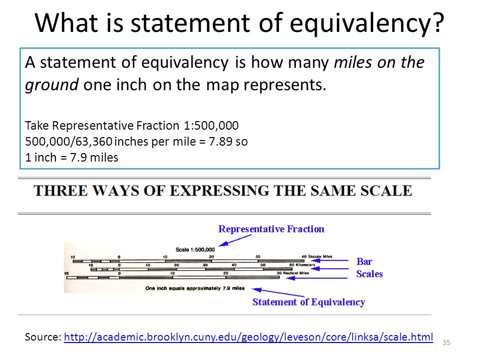 What is statement of equivalency.