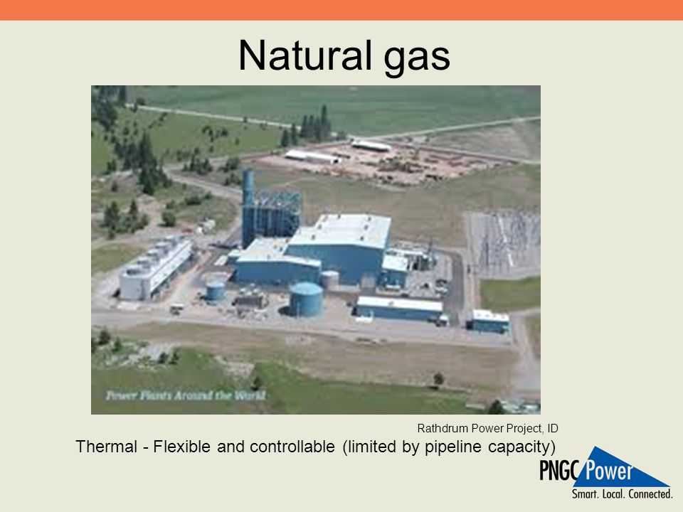 Natural gas Thermal - Flexible and controllable (limited by pipeline capacity) Rathdrum Power Project, ID