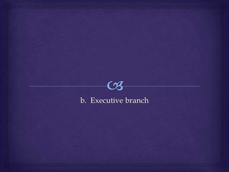 b. Executive branch