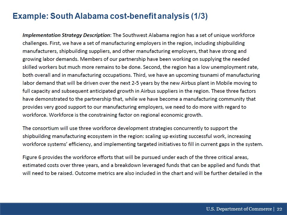 Example: South Alabama- Cost/Benefit Analysis Example: South Alabama cost-benefit analysis (1/3) U.S.