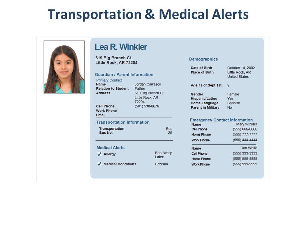 18 Transportation & Medical Alerts