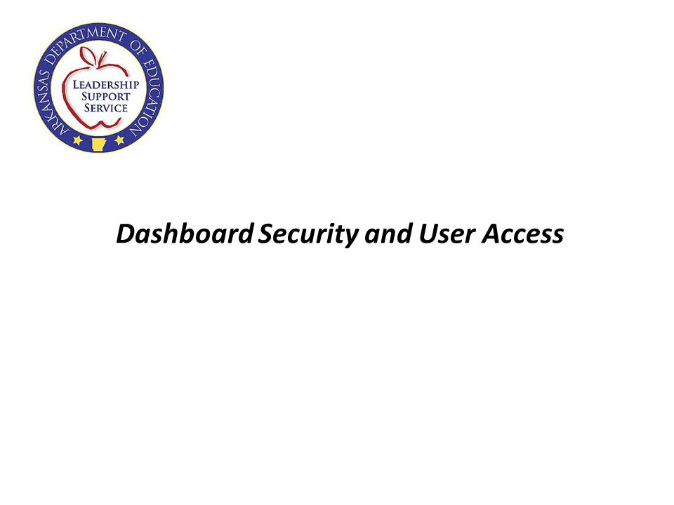 26 Dashboard Security and User Access