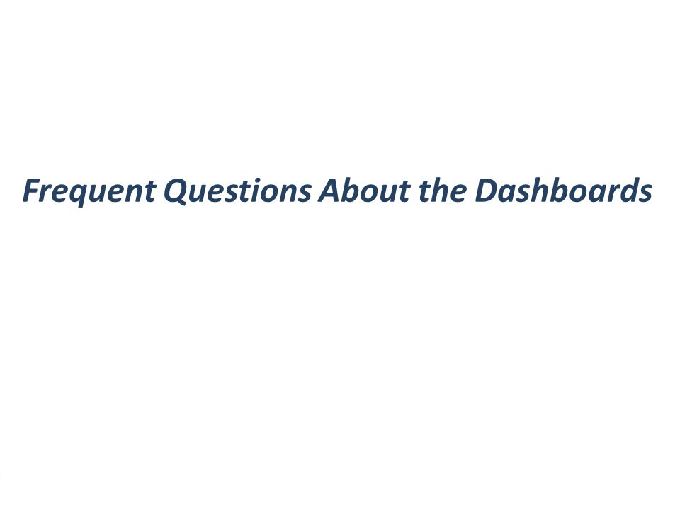 4 Frequent Questions About the Dashboards