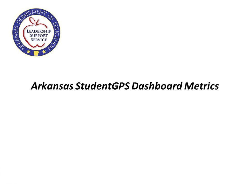 7 Arkansas StudentGPS Dashboard Metrics
