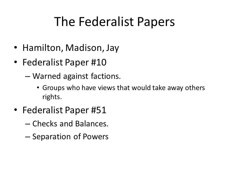 essay number 10 of the federalist papers