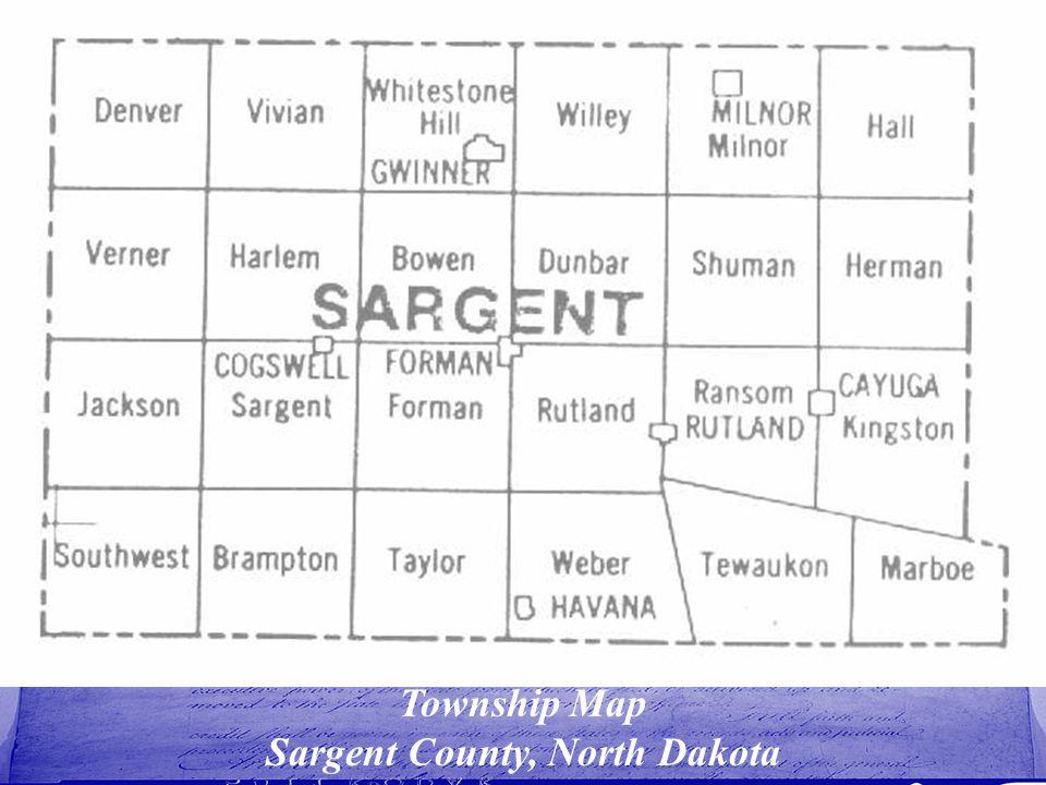 Township Map Sargent County, North Dakota