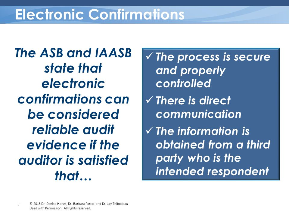 Reliability Risks Process might not be secure or properly controlled Respondent is not authorized to respond Integrity of the transmission might have been compromised Electronic Confirmations: RISKS 8 © 2013 Dr.
