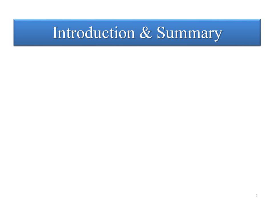 Introduction & Summary 2