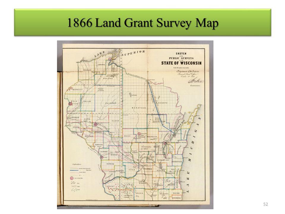 1866 Land Grant Survey Map 52