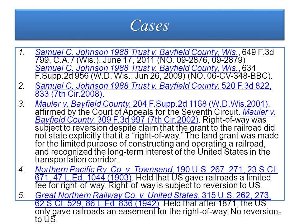 CasesCases 1.Samuel C. Johnson 1988 Trust v.