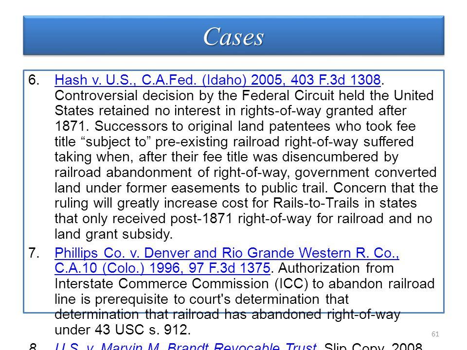 CasesCases 6.Hash v. U.S., C.A.Fed. (Idaho) 2005, 403 F.3d 1308.