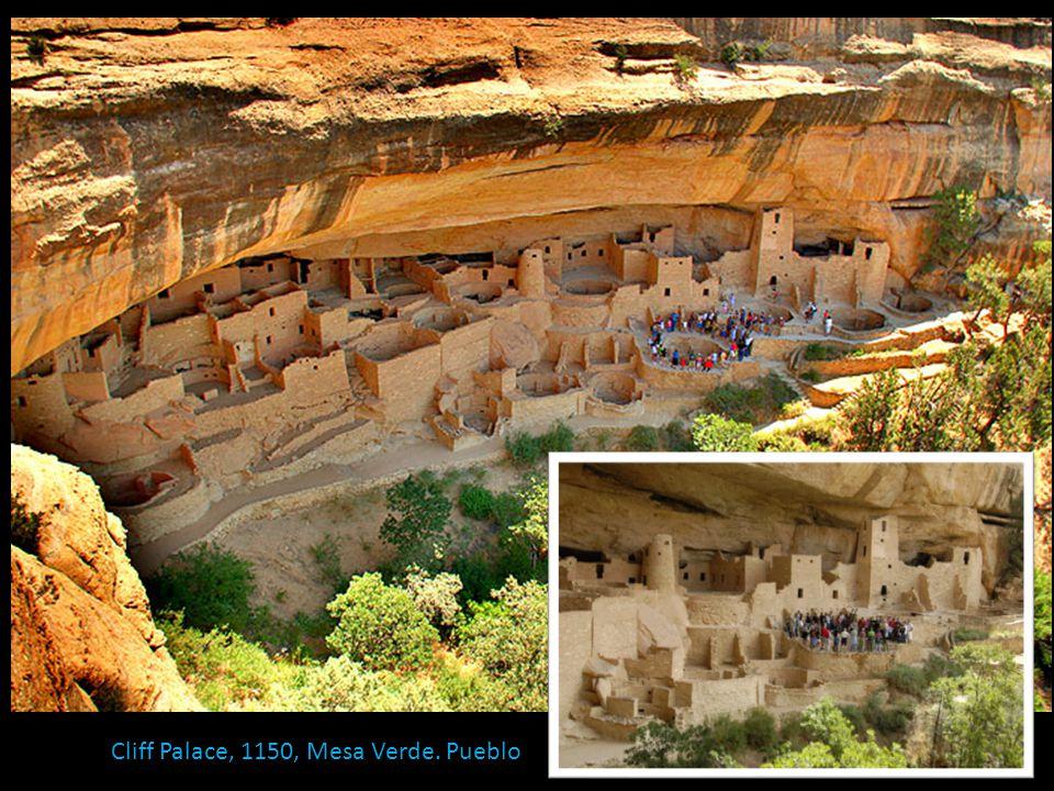 Cliff Palace, 1150, Mesa Verde. Pueblo