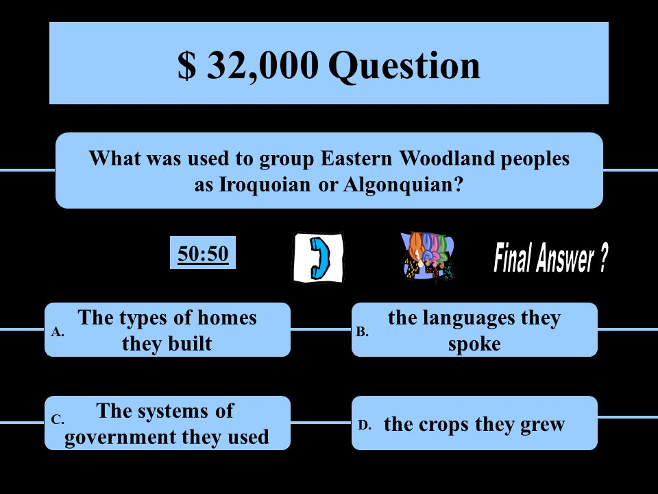$ 16,000 Question What is the main reason that early peoples in the Americas began to live in larger, more settled villages.