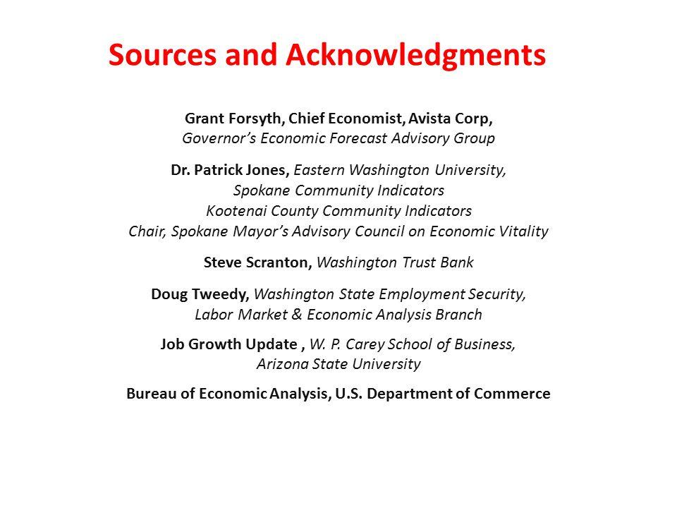 Grant Forsyth, Chief Economist, Avista Corp, Governor's Economic Forecast Advisory Group Dr.