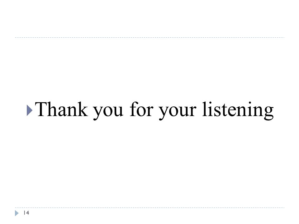 14  Thank you for your listening