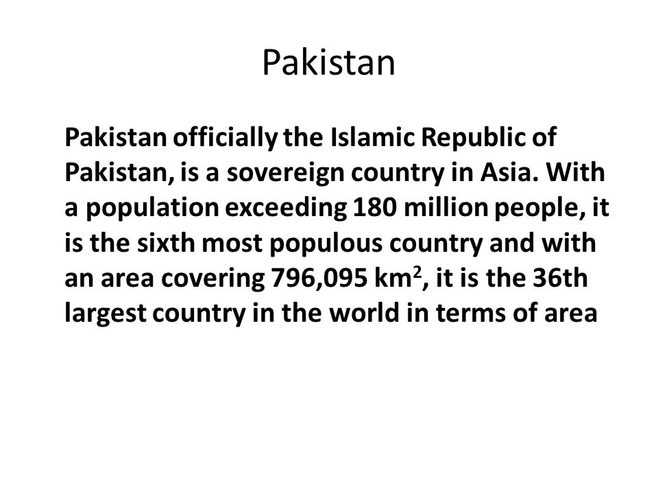 The Government …… The Balochistan is the largest Province as per Area.