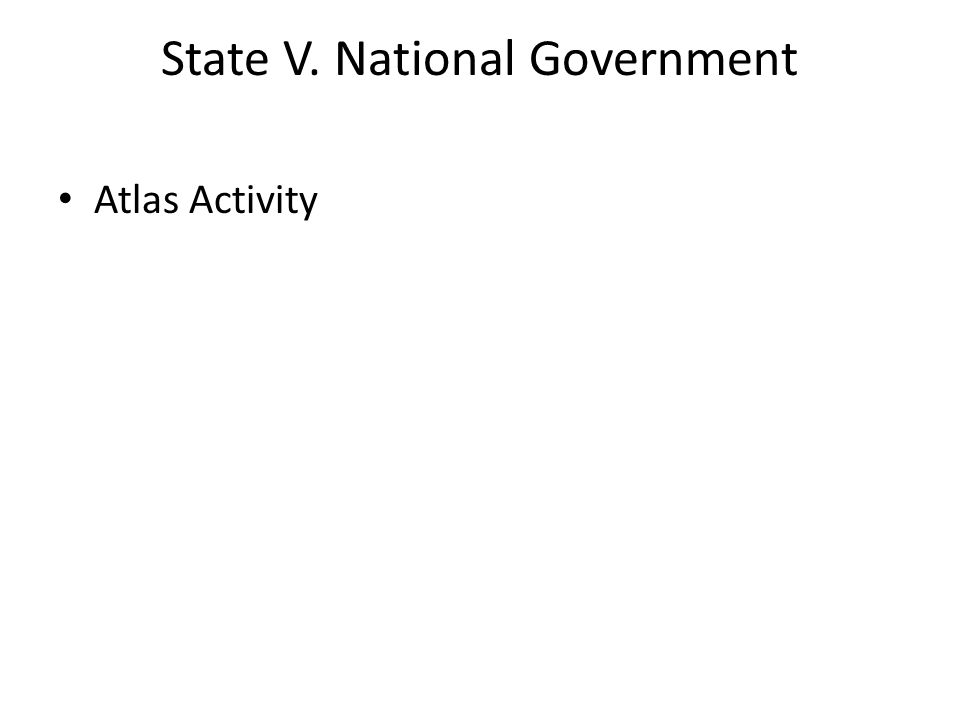 State V. National Government Atlas Activity