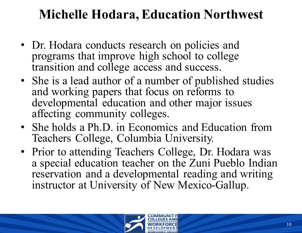 Michelle Hodara, Education Northwest Dr.
