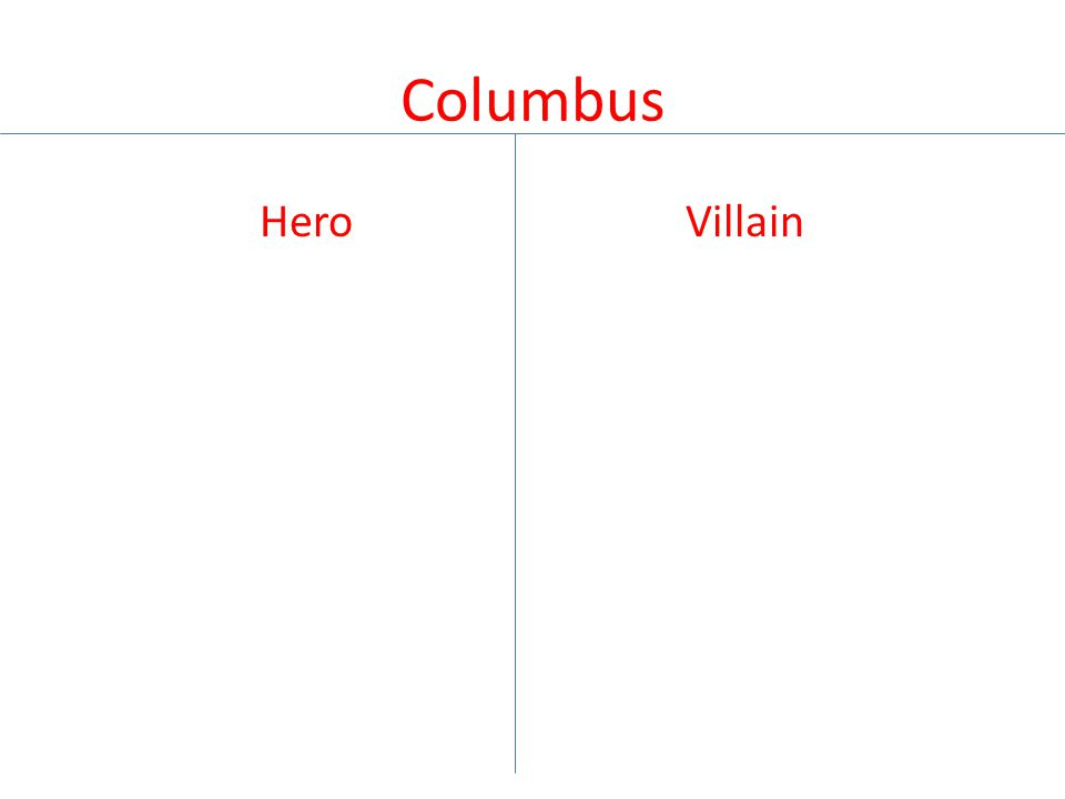 Columbus Hero Villain