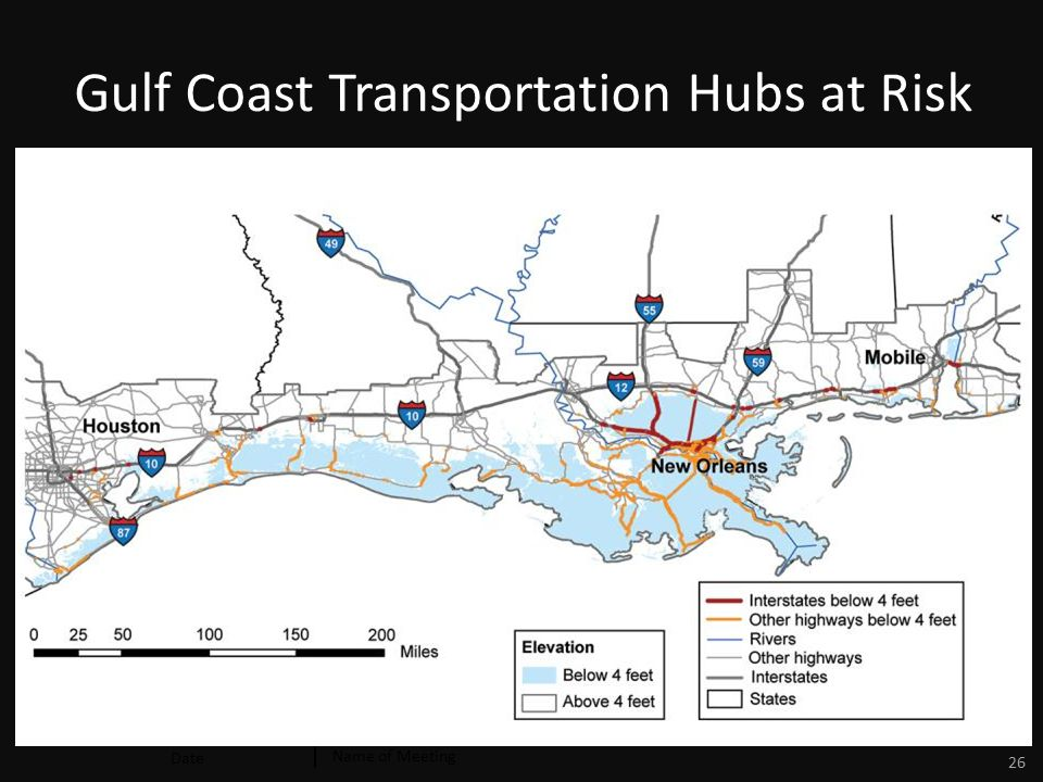 Date Name of Meeting 26 Gulf Coast Transportation Hubs at Risk