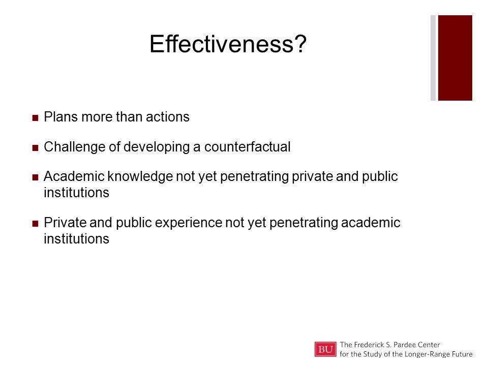 Effectiveness.