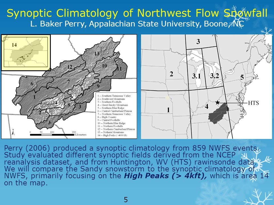 Synoptic Climatology of Northwest Flow Snowfall L.