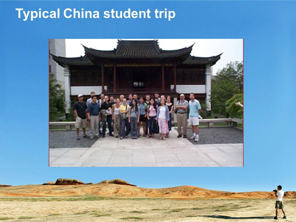 Typical China student trip