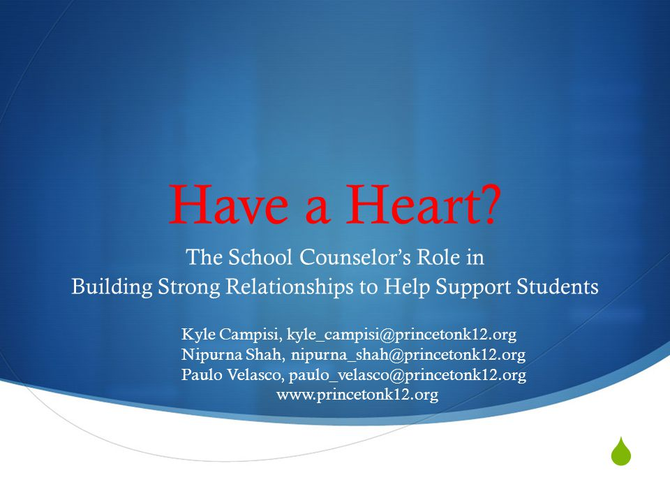 Why building positive counselor-student relationships is important.