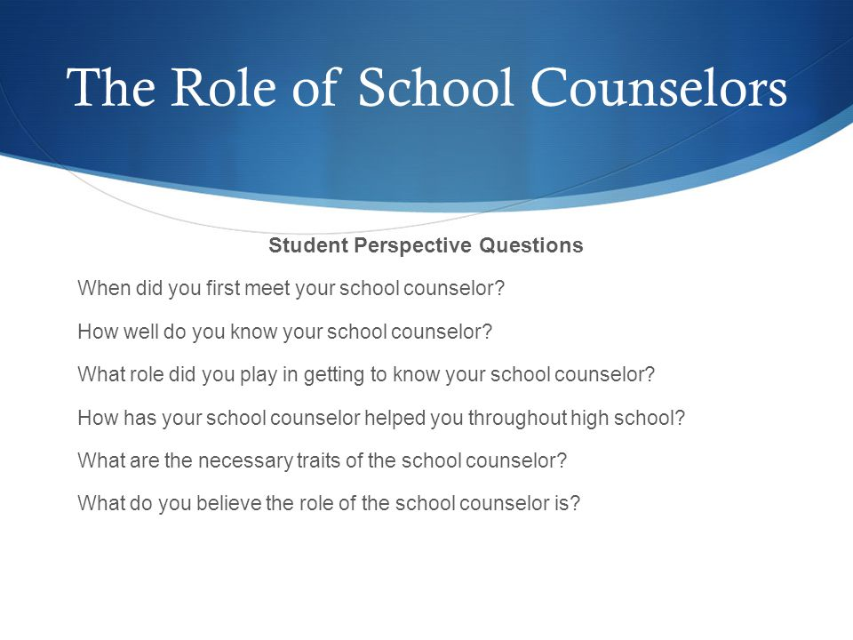 Why is the School Counselor's Role Vital in Building Relationships.